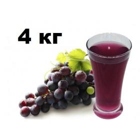 Сок концентрированный Виноградный красный, 4 кг.