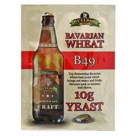 Дрожжи BullDog B49 Bavarian Wheat (Баварское Пшеничное), 10 г,  Англия