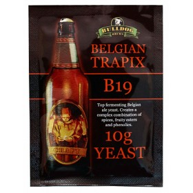 Дрожжи BullDog B19 Belgian Trapix ((Бельгийские Трапистские), 10 г, Англия