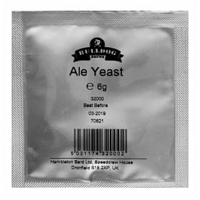 Дрожжи пивоваренные BullDog Ale, 6 г (Универсальные Элевые), Англия