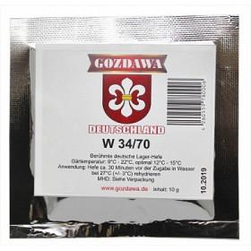 Дрожжи пивные Gozdawa W-34/70 (Лагерные 34/70), 10 г