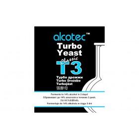 СПИРТОВЫЕ ТУРБОДРОЖЖИ ALCOTEC TURBO 3, 120 Г
