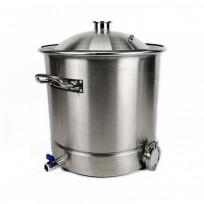 """Перегонный куб 28 литров (30*40) (Купольная крышка 1,5"""") сталь AISI 304"""