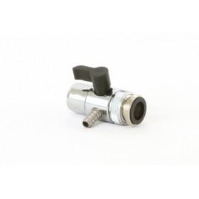 Переходник на кран (дивертор) металлический на шланг 10 мм