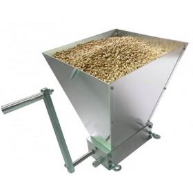 Мельница для солода (солододробилка), двухвальцовая с бункером и рукояткой в комплекте.