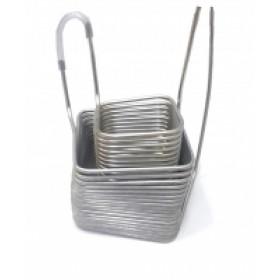 Охладитель погружной(чиллер) МЕГА, нержавеющая сталь длина 13 м + 16 м, диаметр 8 мм