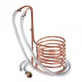 Охладитель погружной(чиллер), медь длина 7,5 м, диаметр10 мм