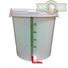 Емкость для брожения и  розлива (стандартная стенка) 32 л, с краном