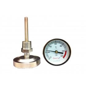 Термометр биметаллический (осевой) 0- 120 оС.
