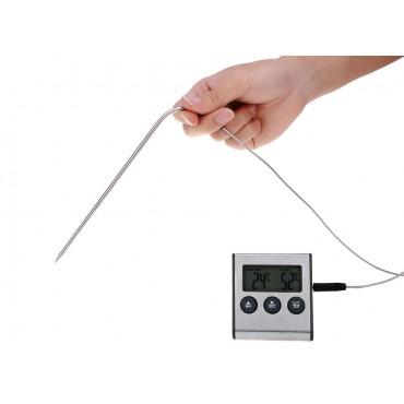 Термометр-таймер с зуммером и выносным щупом