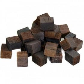 Кубики дубовые, сильный обжиг,  100 г
