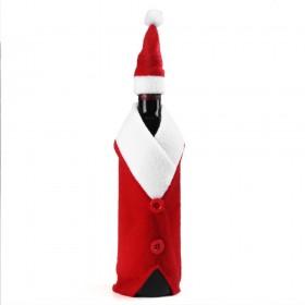 Новогодняя одежда для бутылки Санта Клаус