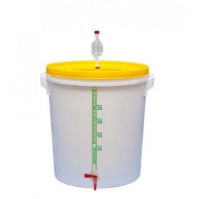 Емкость для брожения (толстая стенка) 32 л с краном, гидрозатвором и уплотнителем