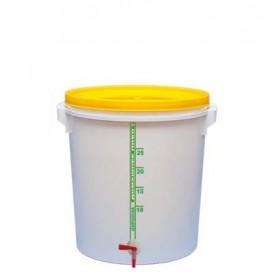 Емкость для брожения и  розлива (толстая стенка) 32 л, с краном