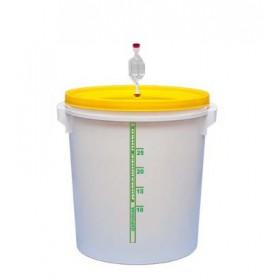 Емкость для брожения (толстая стенка) 32 л с гидрозатвором и уплотнителем