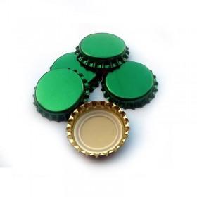 Кроненпробки  зеленые 29 мм, 50 штук Италия
