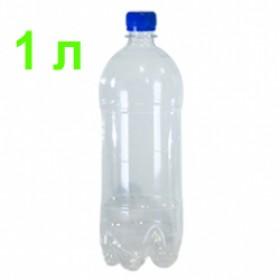Бутылка ПЭТ 1 л, плотная, для хранения газированных напитков по ГОСТ, 29 г, прозрачная