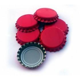 Кроненпробки красные 29 мм, 50 штук  Италия