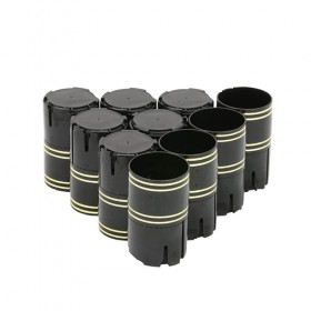 Колпачок «Купола Лайт» на винтовое горло,, черный, 10 шт