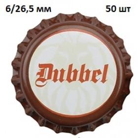 Кроненпробки 6 мм, «Dubbel» (Дуббель), 50 шт