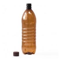 Бутылка ПЭТ коричневая с пробкой, 2 л